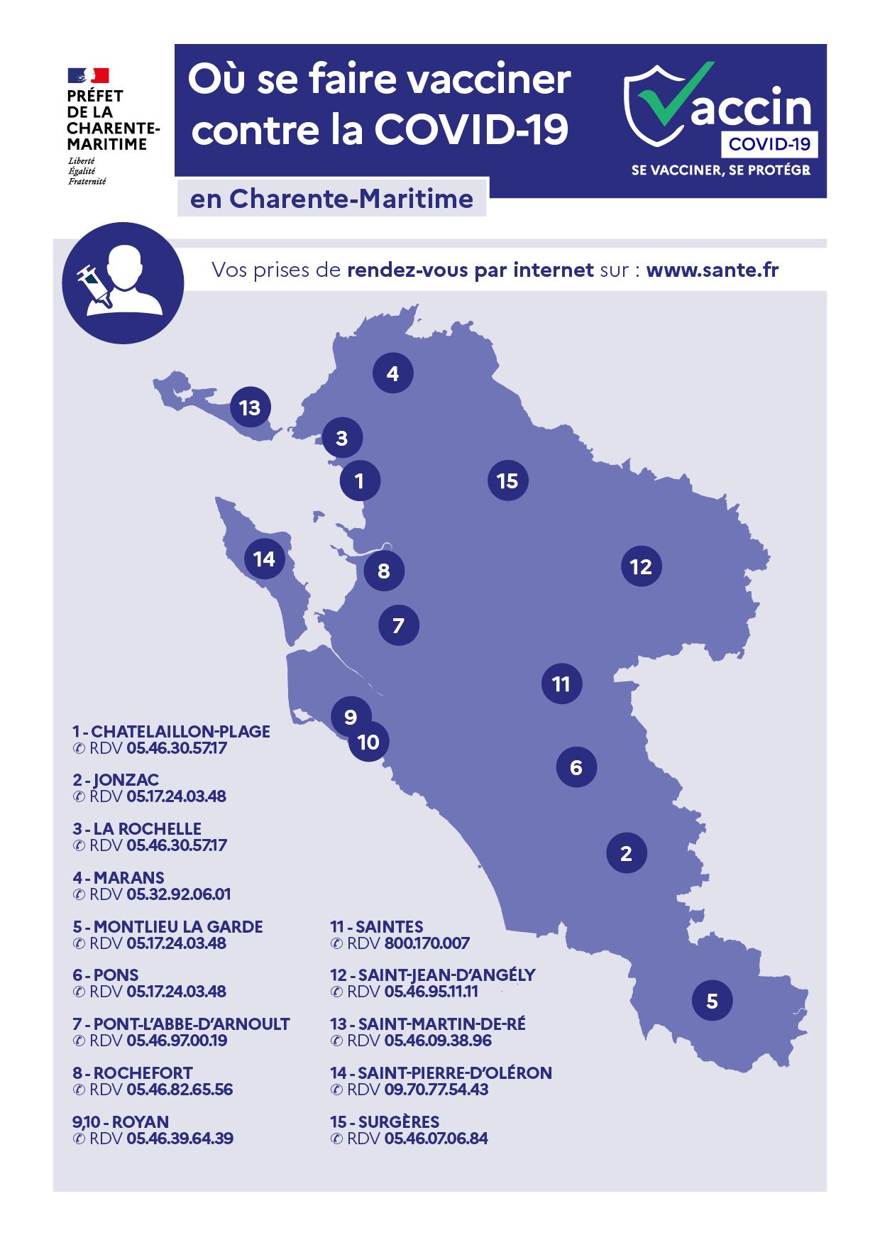 CAMPAGNE DE VACCINATION EN CHARENTE-MARITIME