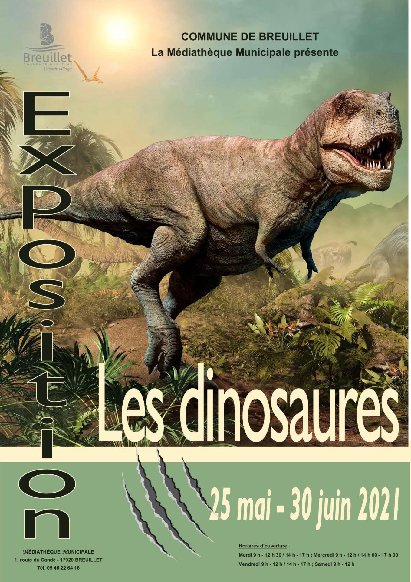 Médiathèque municipale : exposition «Les Dinosaures»